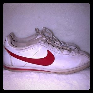 Nike Classic Red Swoosh Tennis Shoe